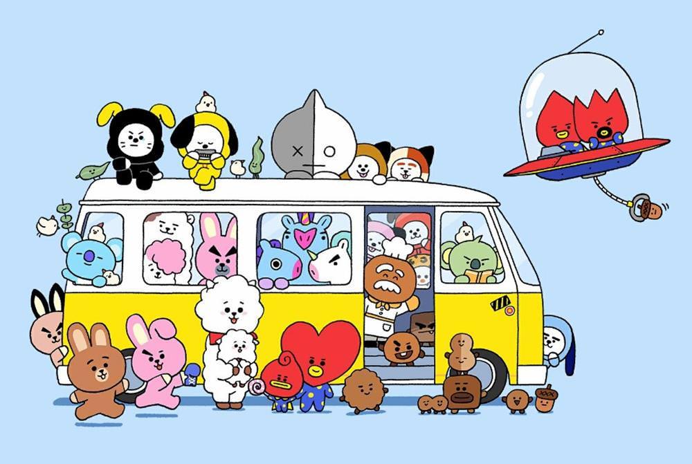 BT21咖啡廳【防彈少年團BTS X LINE FRIENDS】日本期間限定店萌夯開幕! - threeonelee.com