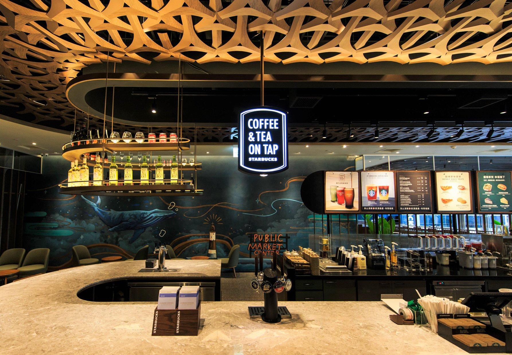 【台灣星巴克特色門市】高雄夢時代指標型旗艦店:海洋般奇幻的咖啡旅程 - threeonelee.com