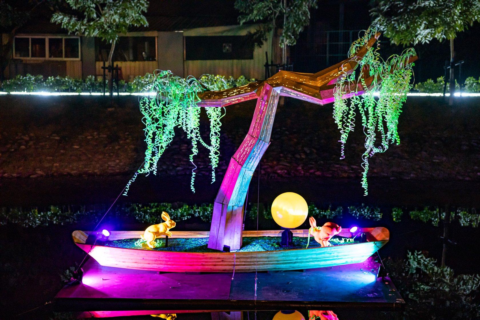 月津港燈節,台南月津港燈節,台南,台南鹽水,月津港親水公園,月之美術館