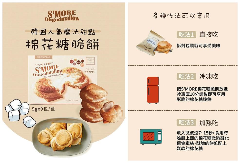 棉花糖脆餅,韓國人氣 IG 甜點,韓國人氣魔法甜點, S'MORE ohgodmallow,S'MORE 棉花糖脆餅