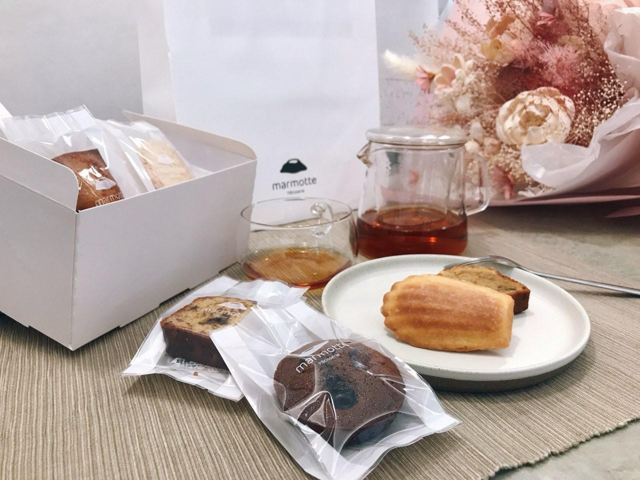Pâtisserie marmotte 法式經典,瑪德蓮,費南雪,蘭姆葡萄磅蛋糕,花生馬卡龍,台中天團全明星備戰糧包,台中美食